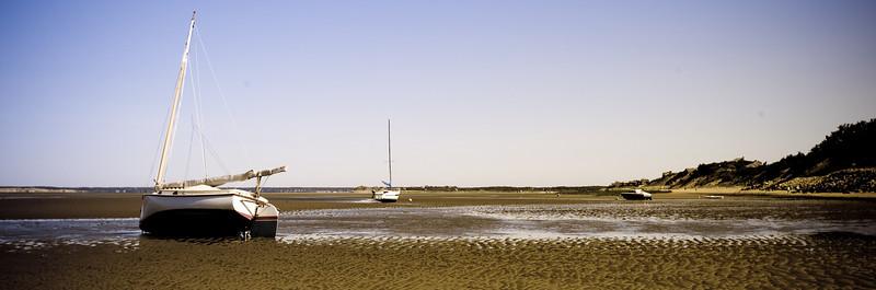 cat boat at ebb tide -1011271