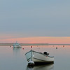 A boat at sunset near Chatham Fish Pier. Chatham, Cape Cod, Massachsuetts