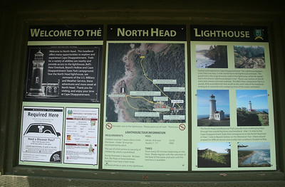 North Head Lighthouse Sign Board.