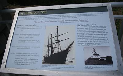 Shipwrecks on the Columbia 1853