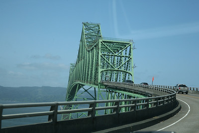Approaching the Megler Bridge crossing the Columbia River from Astoria OR.  The bridge is 4.1 miles long.