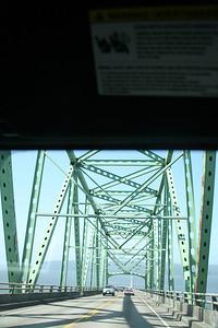High span of the Megler Bridge.
