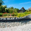 Cape May Point, an old life saving boat is used as planter at the entrance to this beachside community