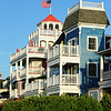 Historic Victorian era homes, inns and B&B's line Beach Avenue looking out to the Atlantic Ocean