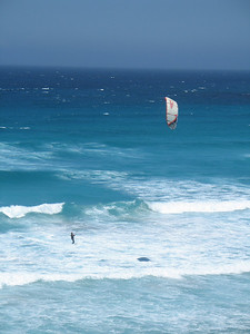 A new sport for me - kite surfing.