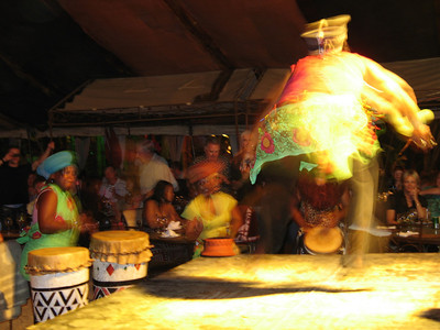 We had a group dinner this night at Moyo - http://www.moyo.co.za/.  Great entertainment, music, and atmosphere.