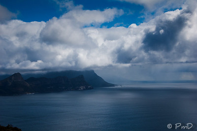 Looking toward False Bay & Simonstown from Cape Point National Park, SA