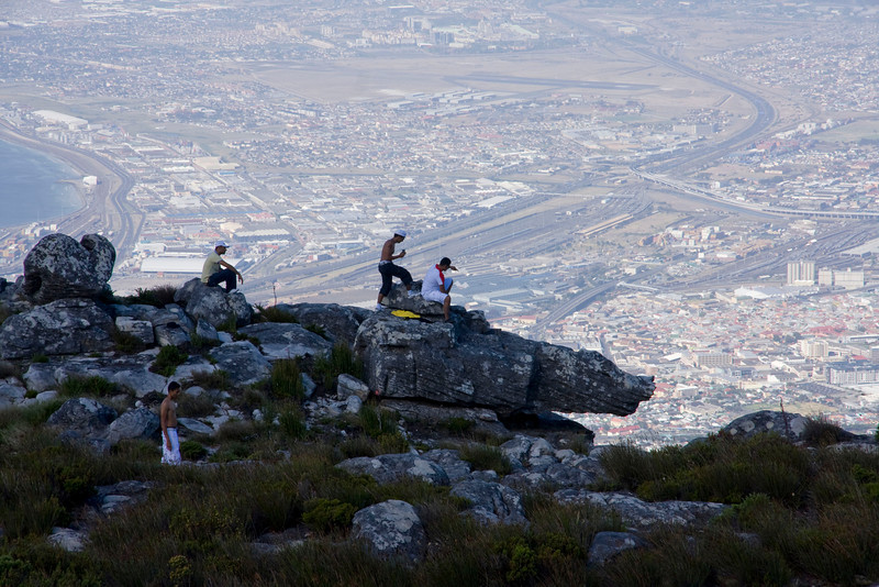 Sightseers on top of Table Mountain.