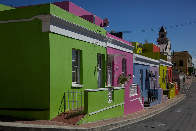 Colorful buildings in downtown Cape Town