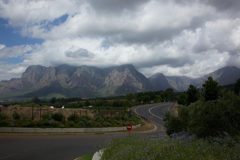 Between Stellenbosch and Franschoek