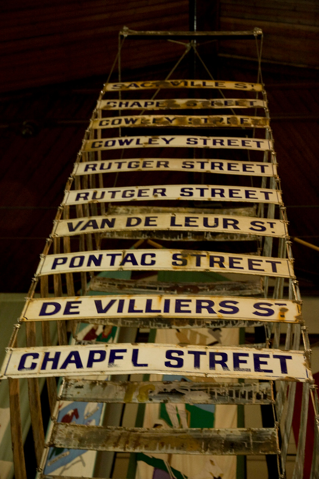 Street signs from the old District 6.