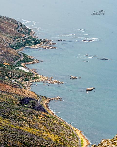 20190514-90 Cape Town Table Mtn, View of Victoria Drive and Atlantic coastline