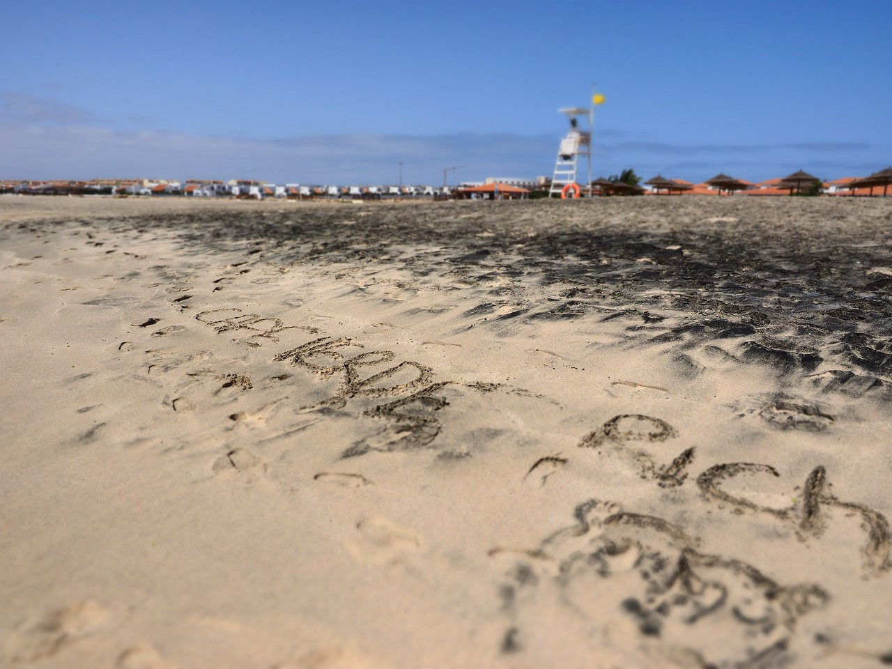 Cape Verde signature made on the beach. Thought it was quite amusing & worth a shot. Some are the guests certainly are :-)
