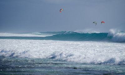 Huge waves, clear Atlantic waters (22C) & lots of wind make for a windsurfing paradise.