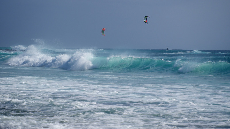 Huge waves, clear Atlantic waters (22C) & lots of wind make for a wind/kite surfing paradise.
