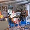 Helen working, Sue online