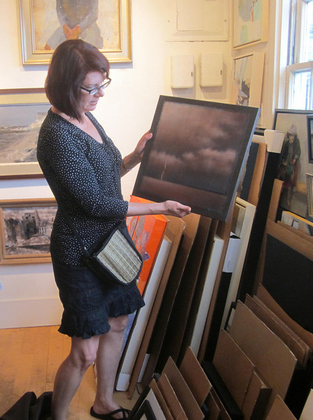 Christie and painting, Julie Heller, Ptown
