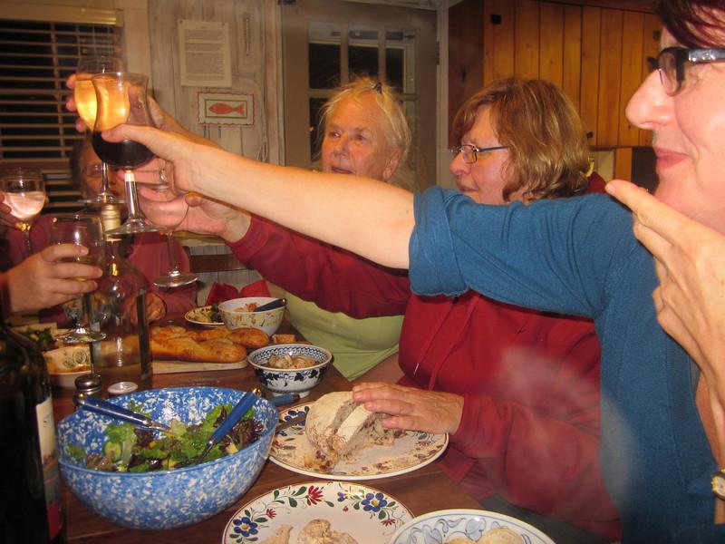Cheers!  Helen, Sue, Christie's arm