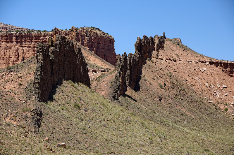 Basalt Dike - Along the Cathedral Valley Loop