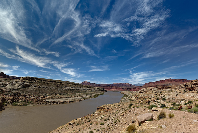 The Colorado River at Hite, the top of Lake Powell