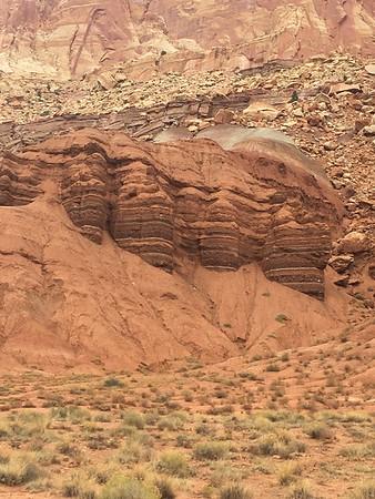 Huge rock formations