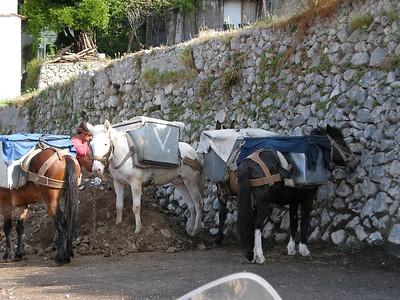 hauling dirt in Praiano