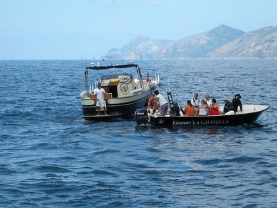 getting to main boat to Capri
