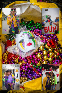 Mardi Gras beads, the ritual of  catching and giving them away.