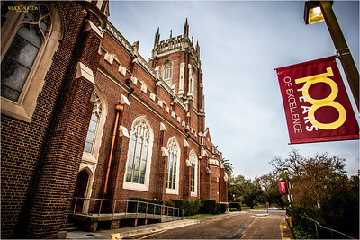 In the uptown section of St. Charles Avenue lies the beautiful Holy Name Cathedral on the campus of Loyola University.