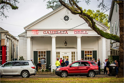 Breakfast at Camelia Grill has a line forming outside its doors...a local tradition.