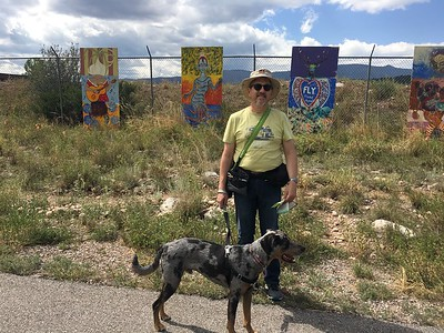 Art along the bike path