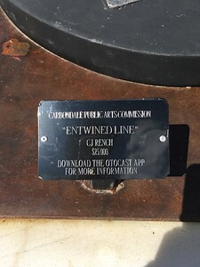 Carbondale Sculpture plaque