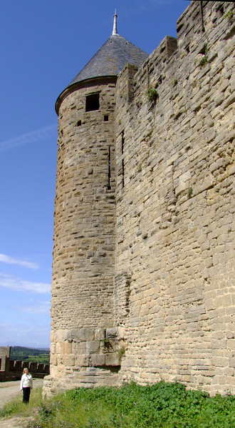 Jan in relation to one of the fortress towers