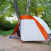 Tent Site at Salida's Heart of the Rockies campground