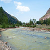 Uncompahgre River in downtown Ouray