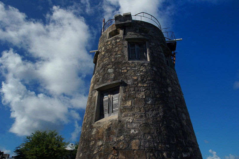 An old tower by the broadwalk.
