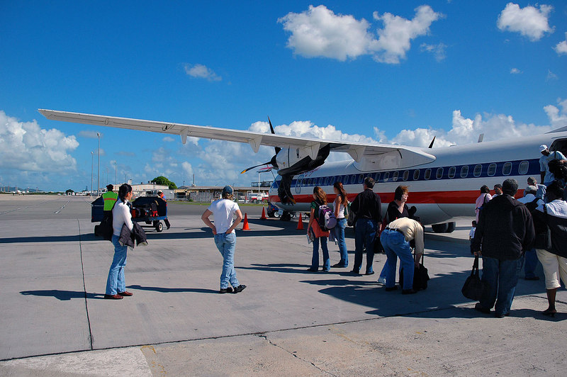 On the ground on St Croix.