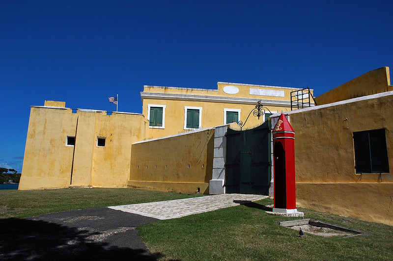 Front of the fort.