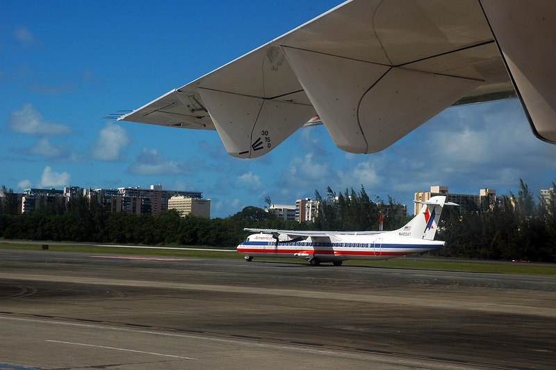 The photos start on the ground at the San Juan airport on Puerto Rico. We flew here from Baltimore, then we boarded a turboprop for the short flight to St Croix. We almost missed this flight (long story).