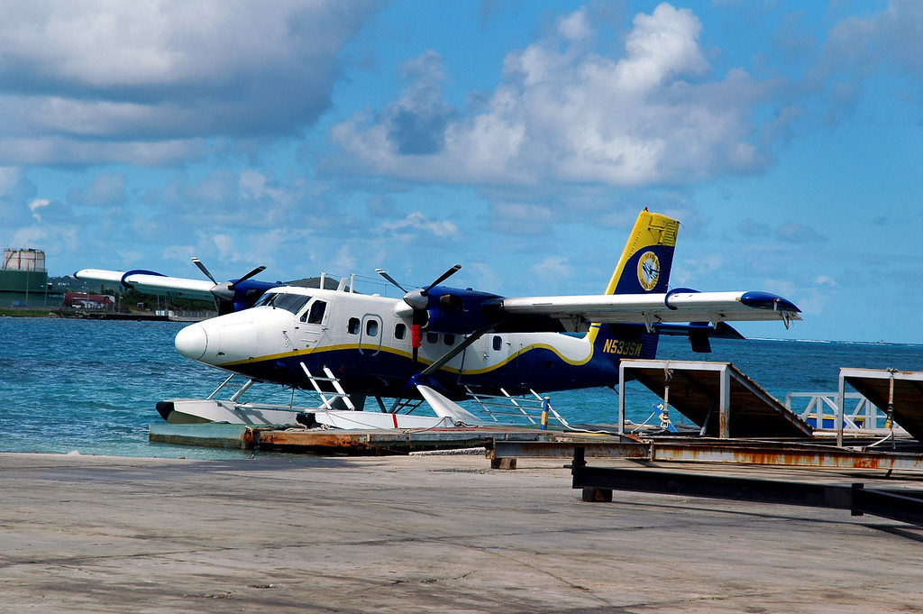 The seaplane that will be taking us to the island of St Thomas.