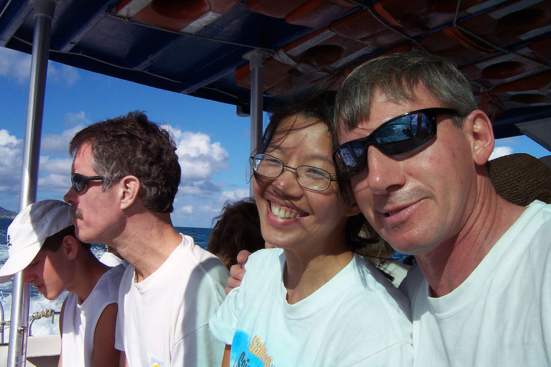 Thao and I on the boat.