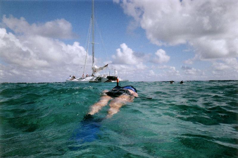 Thao floating off Buck Island.