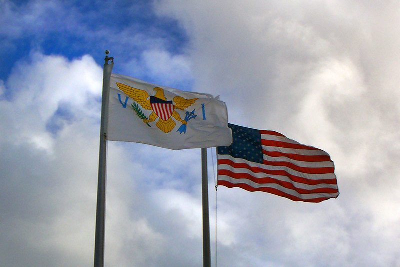The local flags.
