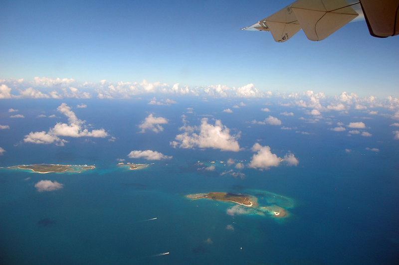 We had great views of a lot of small islands on this flight.