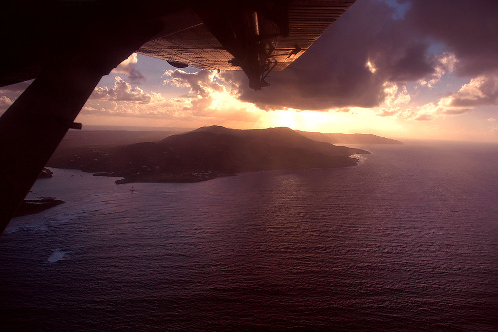 The sun was getting low as we approached St Croix.