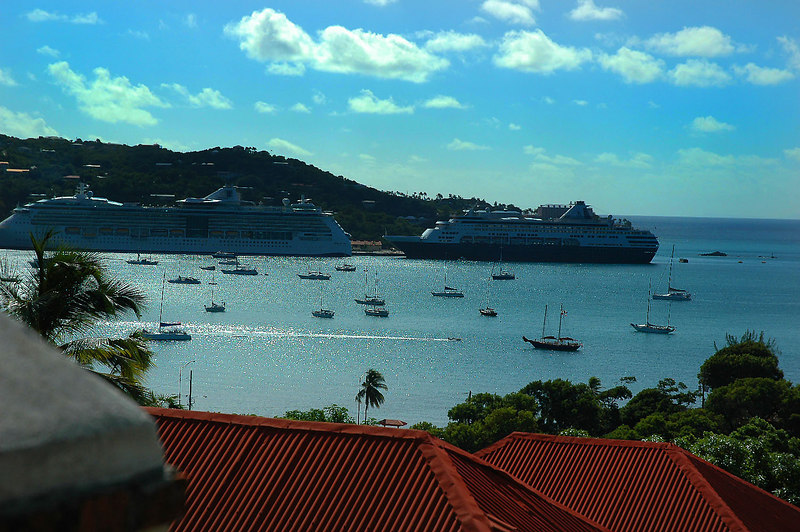Looking towards Havensight, where the cruise ships dock.