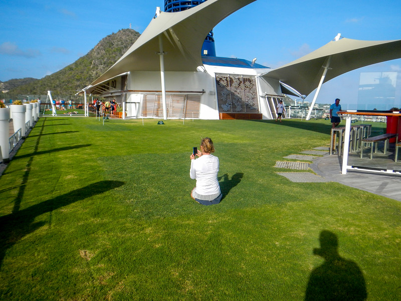 Lady on the Cruise Ship Lawn