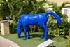 The town of Oranjestad, Aruba, had all these cool blue horse sculptures