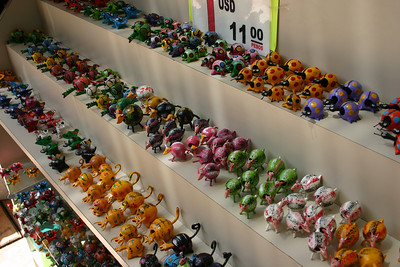 Bobble-Heads Bobble-headed animals for about a buck apiece.