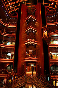 Carnival Elation - Grand Atrium The elevators travel from deck 7 to deck 12, as does the Grand Atrium.